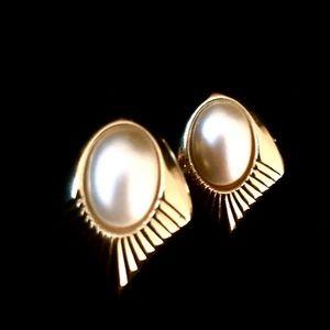 Napier Gorgeous Vintage Earrings, Screw Back